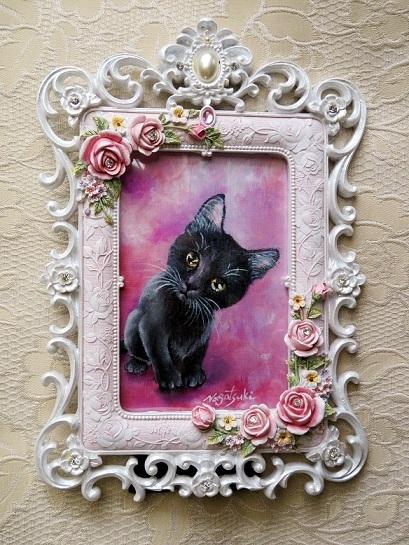 黒猫の油絵2019№2_b0089338_23492223.jpg