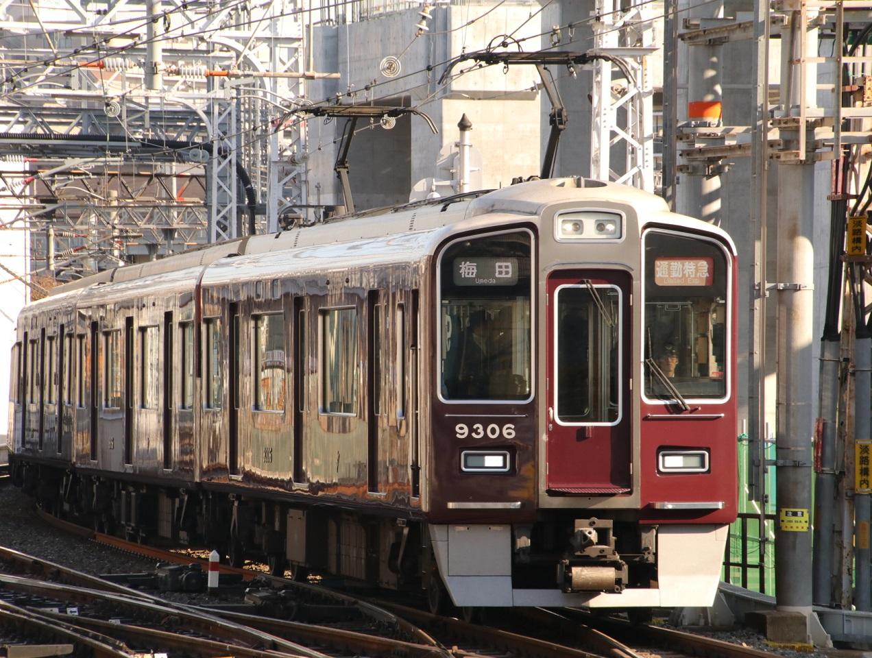 阪急9306F 通勤特急 _d0202264_9512415.jpg
