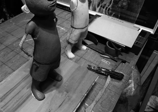 粘土模型1日目_b0052471_20471421.jpg