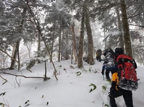 冬合宿「笠ヶ岳西尾根」  ~おつかれ!~_d0237801_00175662.jpg
