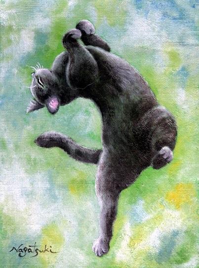 黒猫油絵№3_b0089338_23215199.jpg