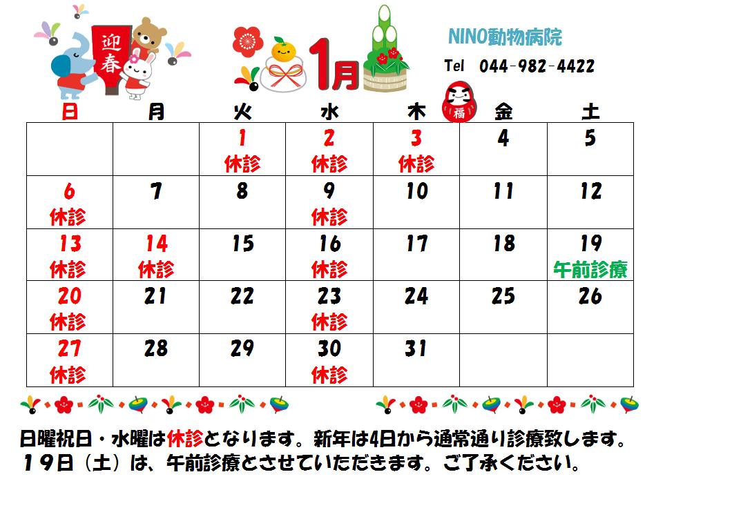 1月の診療日のお知らせ☆_e0288670_11470692.png
