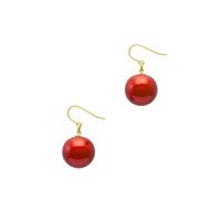 身につける漆 漆のアクセサリー ユーロワイヤー ピアス 糖蜜珠 ポピーレッド色 坂本これくしょんの艶やかで美しくとても軽い和木に漆塗りのアクセサリー SAKAMOTO COLLECTION wearable URUSHI accessories pierces Molasses Jewel Poppy red  大人かわいい艶やかな丸い珠がゆらゆら揺れる、色鮮やかに咲く花をイメージした発色の良いレッドはポップで楽しく」「心癒される」カラーでオールシーズン活用できるアイテム、かぶれ防止コートで安心。 #ピアス #軽いピアス #ポピーレッド色 #赤いピアス #ユーロワイヤーピアス #accessories #jewelry #pierces #Molasses #Jewel #poppyred #漆塗り #糖蜜珠 #漆のアクセサリー #耳が痛くない