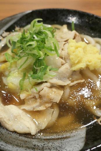 12 18 はなまるうどん 豚バラ白菜あんかけ れんこん天ぷら 620円