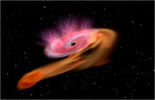 ブラックホール、超高速回転で星をのむ 光解析して判明_c0011649_04235444.jpg