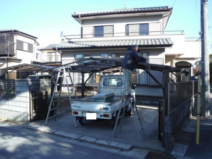 駐車場を広げてカーポート取替え ~ ご希望は_d0165368_07595096.jpg