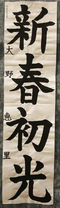 神戸から、神戸市学生書初め展 at そごう_a0098174_18433884.jpg