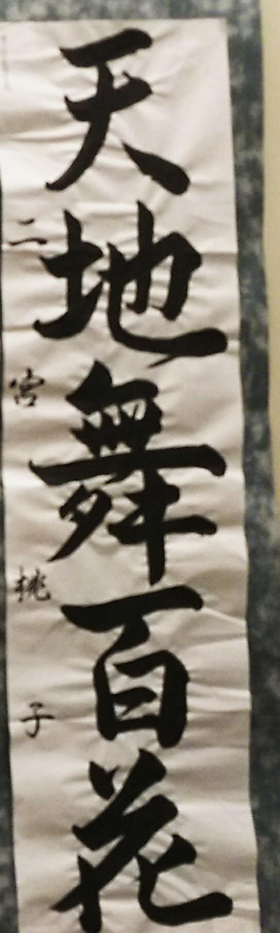 神戸から、神戸市学生書初め展 at そごう_a0098174_18445532.jpg