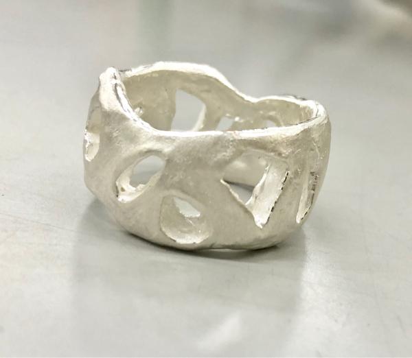 アートクレイシルバーで作ったリング〜毎日文化センター〜_e0095418_20115087.jpg