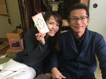お正月のお楽しみ ちゃっかり笑顔~^^;A_e0123286_19500902.jpg