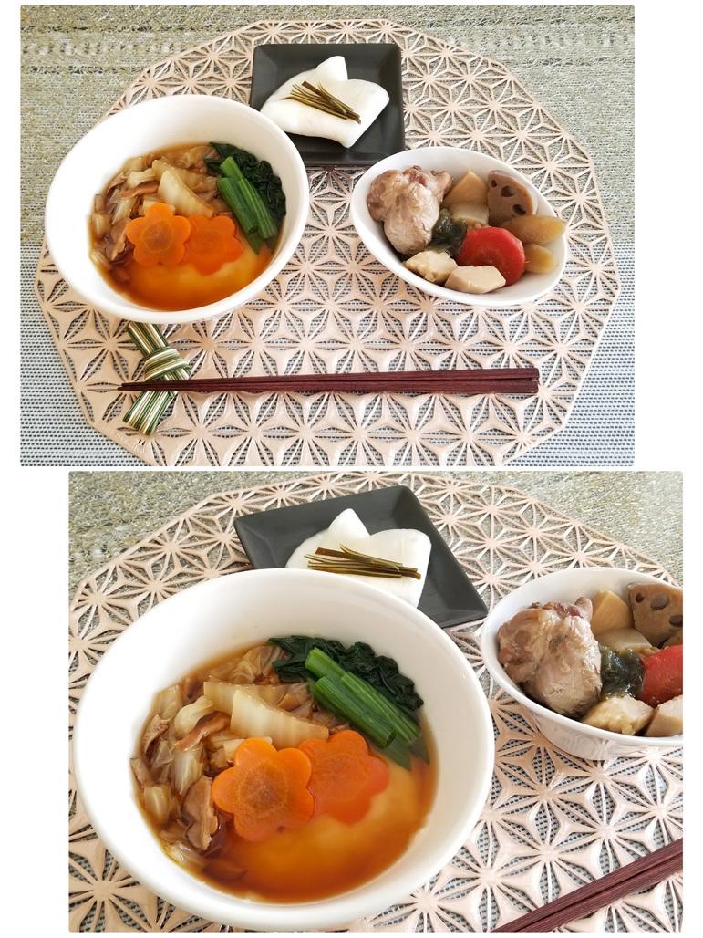我が家のお雑煮や、頂いた美味しい干し柿など♡_d0224894_22450101.jpg