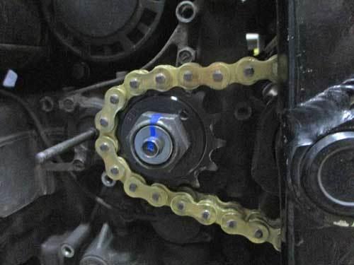 油冷 GSX-R1100のチェーン交換で520コンバート化・・・(^^♪_c0086965_00121853.jpg