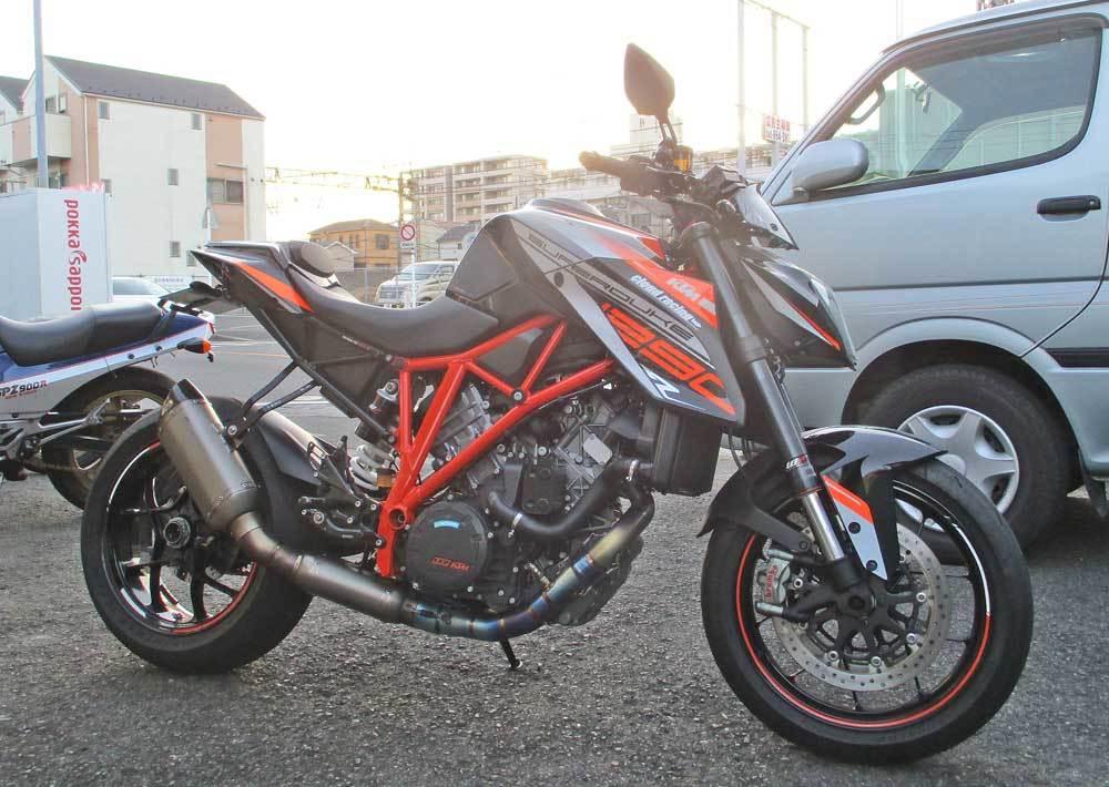 N根サン号 KTM 1290スーパーデュークR(SDR1290)のスクリーンステー加工・・・(^^♪_c0086965_18095800.jpg