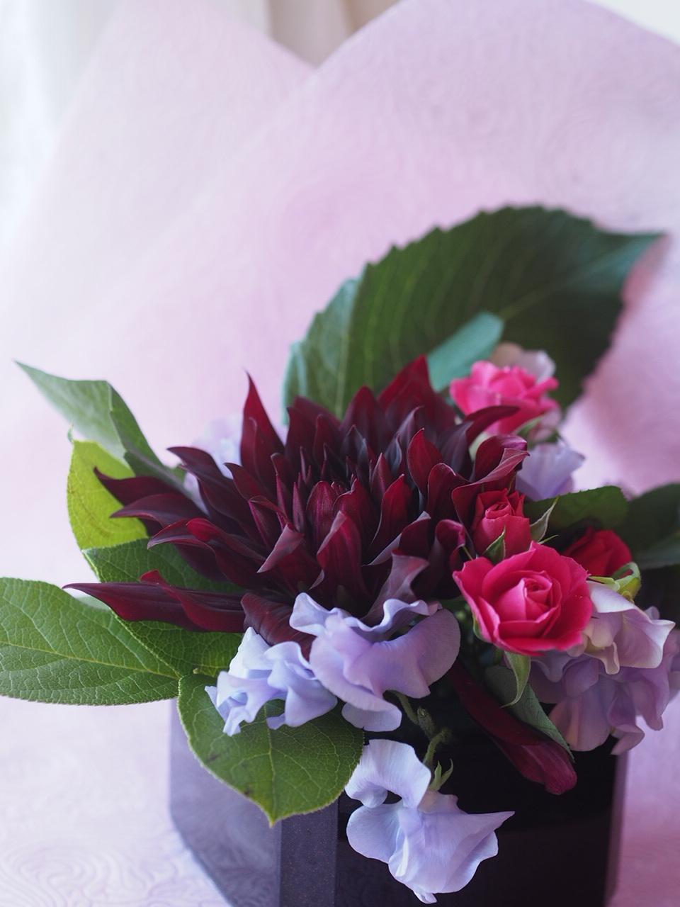 春のお花でアレンジメント_d0144095_17410448.jpg