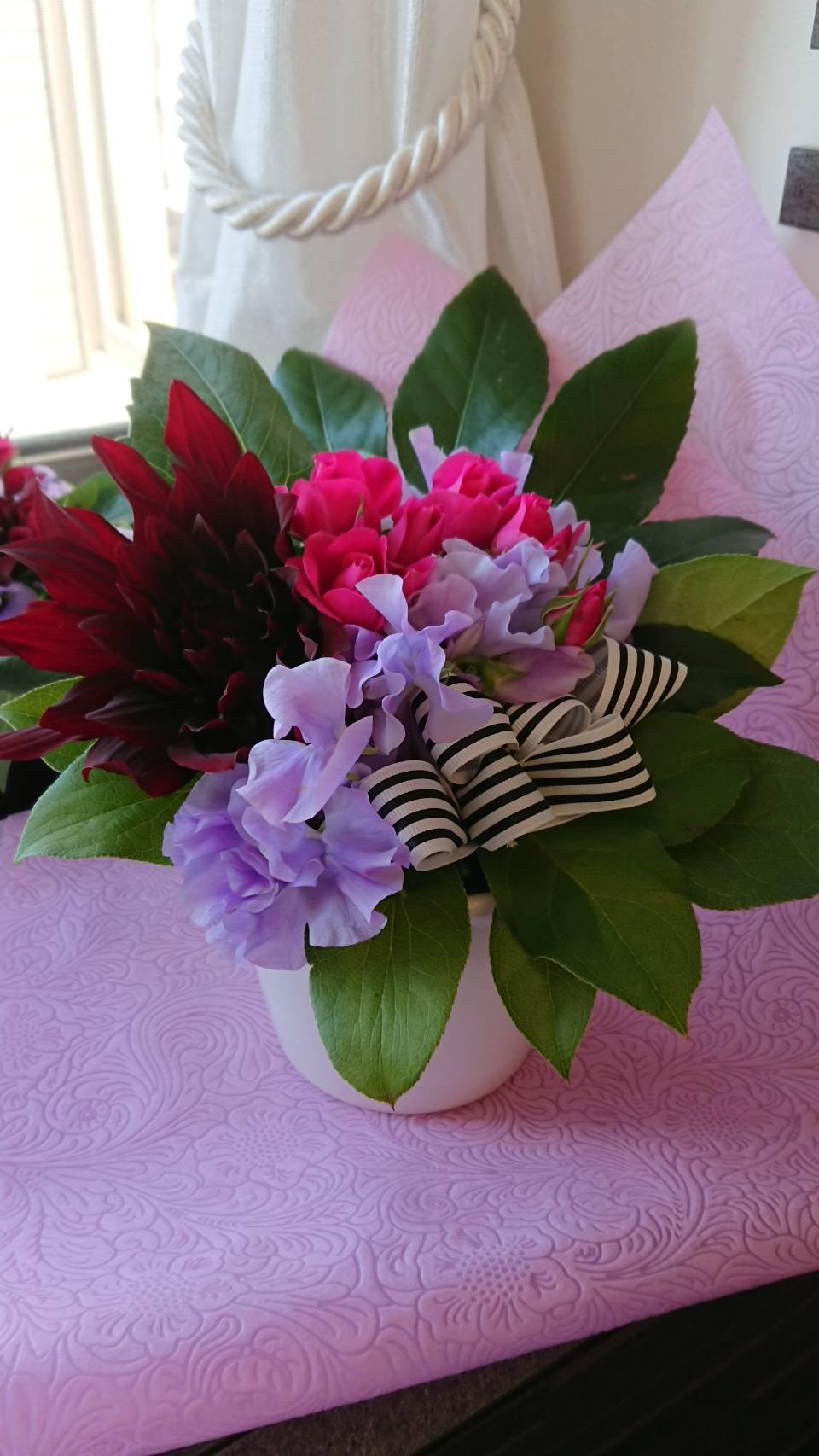 春のお花でアレンジメント_d0144095_17435885.jpg