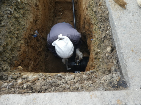 2019年1月24日 2019年年賀状 つくば市上の室土浦電子水道管引込み工事 その14_d0249595_16584659.jpg