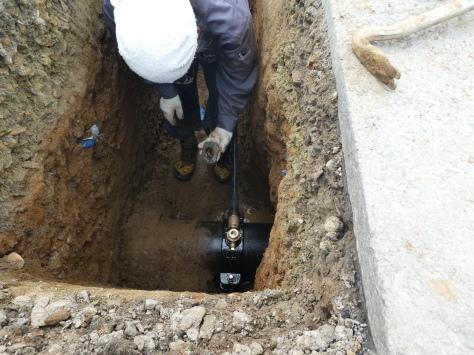 2019年1月24日 2019年年賀状 つくば市上の室土浦電子水道管引込み工事 その14_d0249595_16591476.jpg