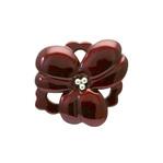 身につける漆 漆のアクセサリー ブローチ 銀芯深紅華 ボルドー色 坂本これくしょんの艶やかで美しくとても軽い和木に漆塗りのアクセサリー SAKAMOTO COLLECTION wearable URUSHI accessories brooches Silver point crimson flower Bordeaux color 素材には粘り気があり丈夫な柘植の木を使用、青貝箔(銀箔を燻して変色させた箔)の微妙な色差による重なりにより艶やかで深みのある上品な奥行き感のある深紅色、花芯に散りばめられた銀の粒が印象的、幅広い年代の女性にとても人気で、還暦のお祝い、大切な方へのプレゼントにも喜ばれています。 #ブローチ #お花のブローチ #深紅 #ボルドー色 #深紅色 #還暦 #プレゼント #jewelry #brooches #Silverpoint #crimsonflower #Bordeauxcolor #漆のアクセサリー #軽いブローチ