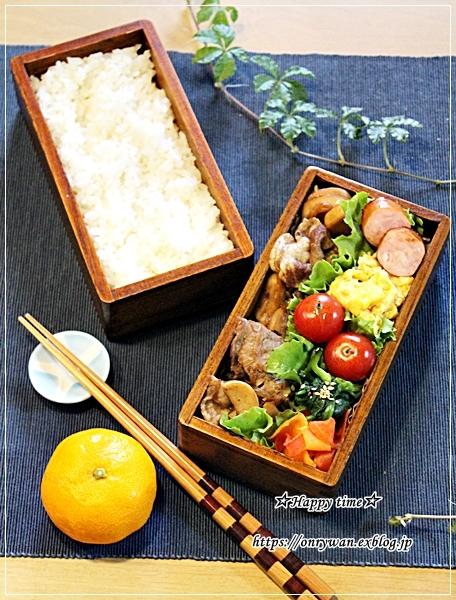豚の生姜焼き弁当と今夜はハンバーグ♪_f0348032_18220481.jpg