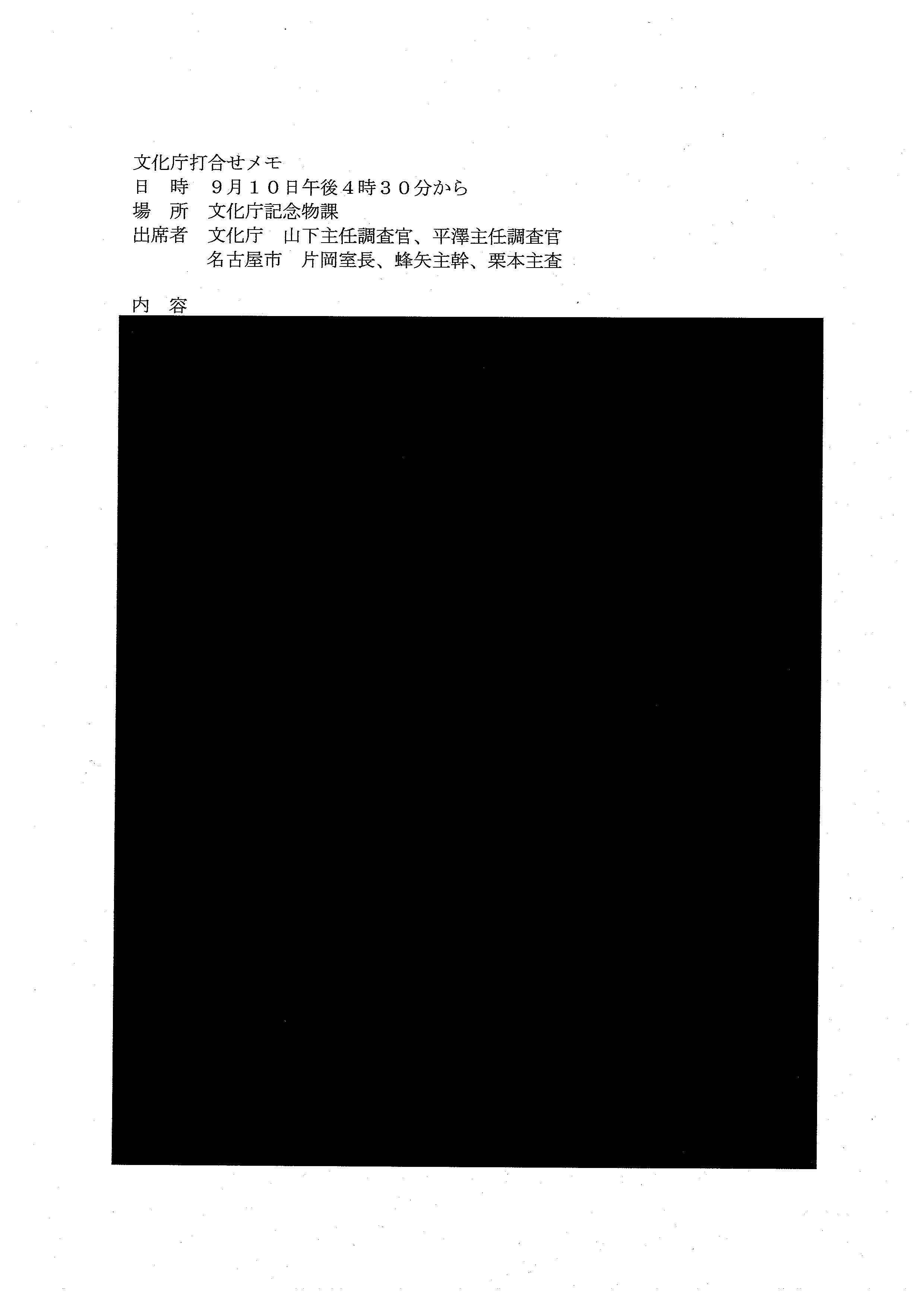 名古屋城木造化 名古屋市が文化庁訪問時の内容・資料全部非公開_d0011701_23143592.jpg