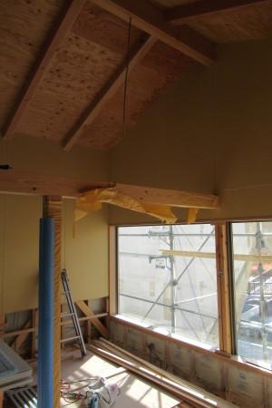 「飛香台の家」壁PB張_b0179213_20212410.jpg
