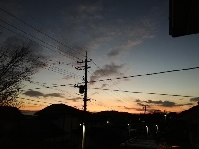 昨日の夕焼け_b0207631_10521649.jpg