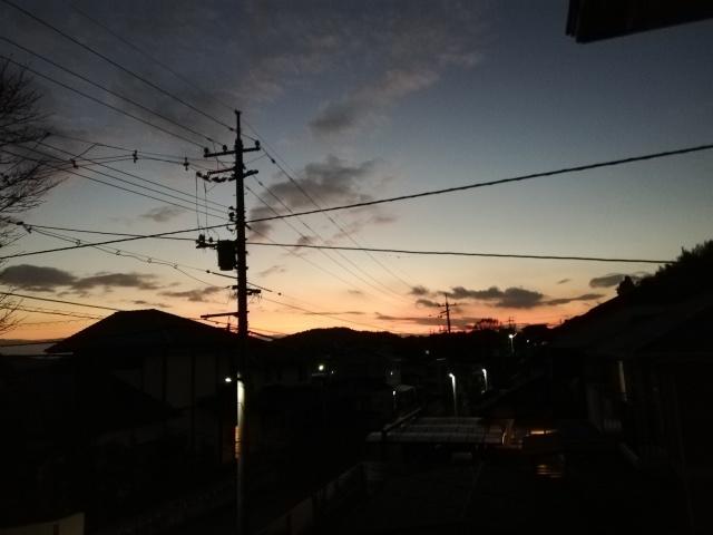 昨日の夕焼け_b0207631_10525149.jpg