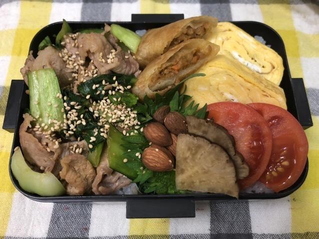 肉野菜炒め弁当_b0371149_07320085.jpeg