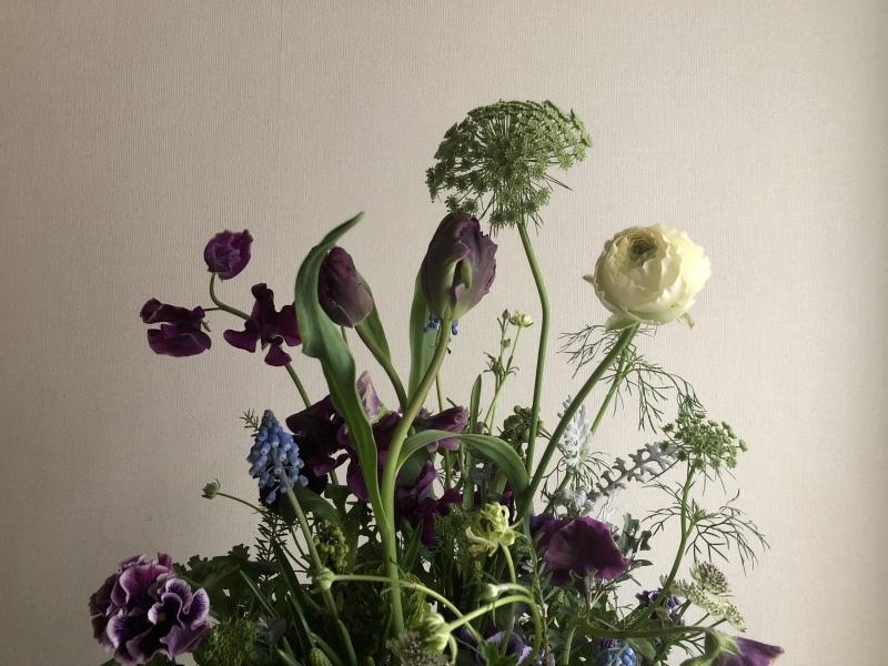 2月のハナクラス  春の花とミモザ_d0104091_16375504.jpeg