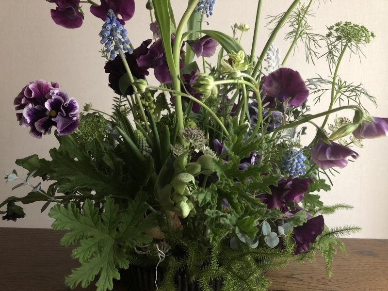 2月のハナクラス  春の花とミモザ_d0104091_16382085.jpeg
