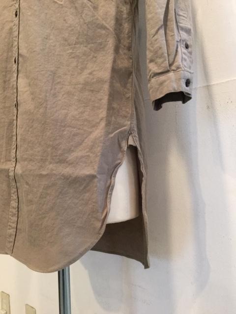 コットンリネン素材の軽やかなシャツコート_d0174308_14465293.jpeg