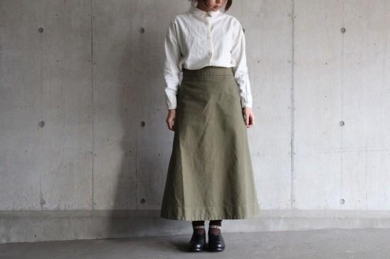 2wayボタンシャツ、ロングスカート_b0165512_17244882.jpg