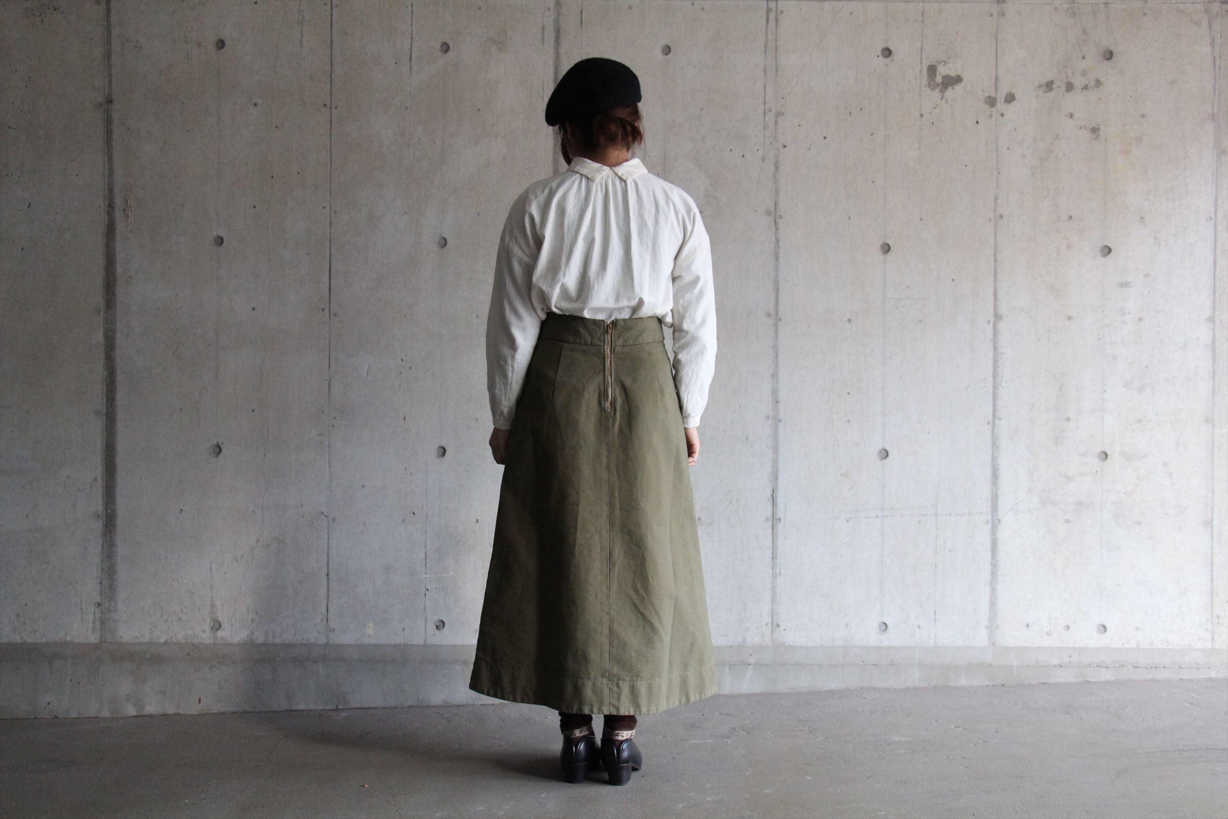 2wayボタンシャツ、ロングスカート_b0165512_17245902.jpg