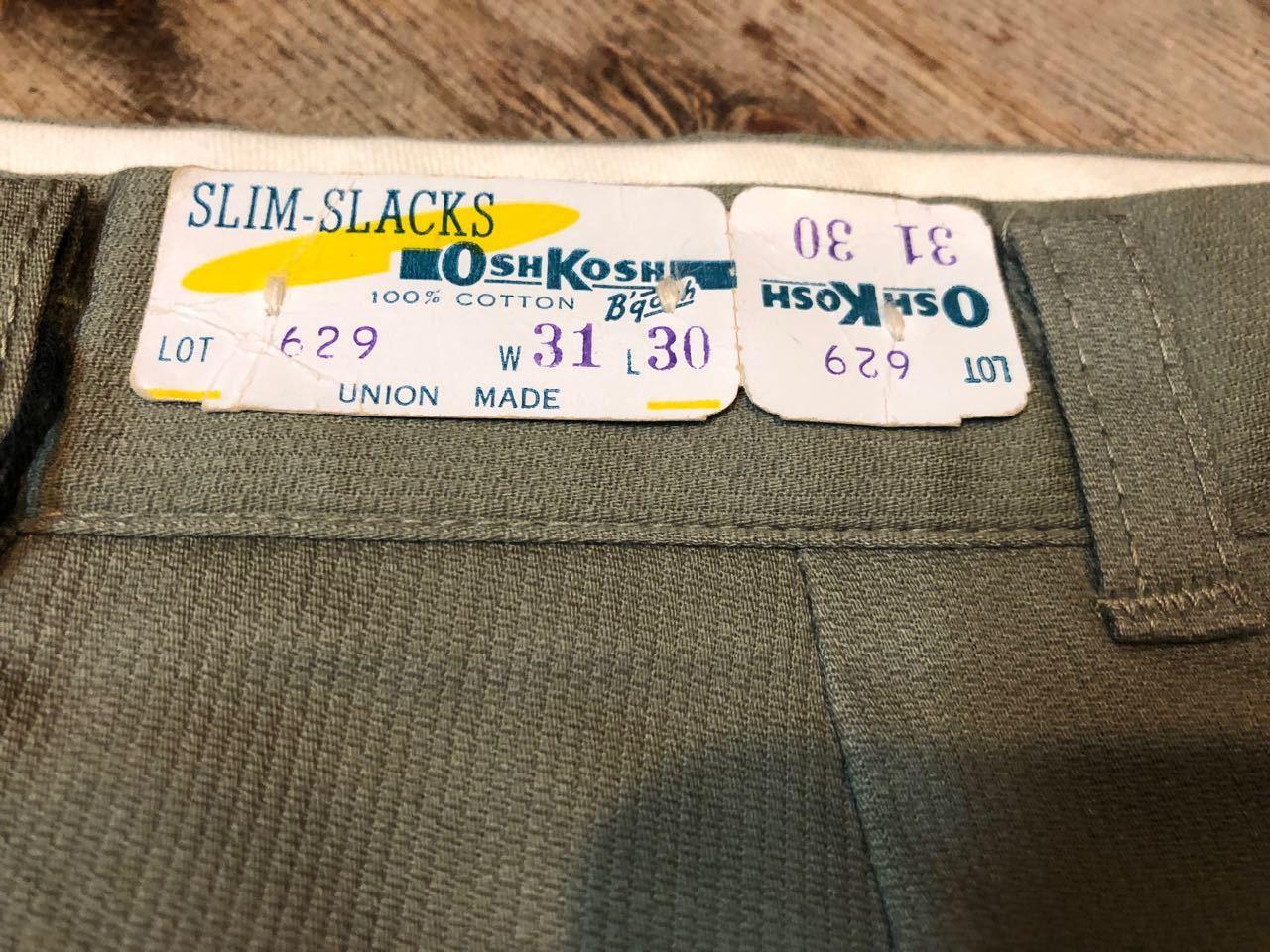 1月26日(土)入荷!デッドストック 60s BLUE BELL &OSHKOSH ピケ スラックス!_c0144020_15555370.jpg