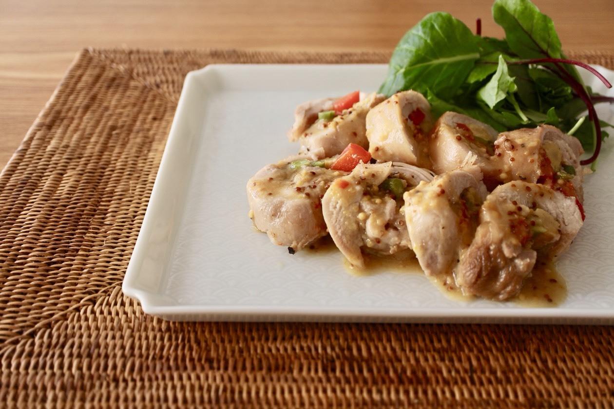 鶏のはちみつレモンマスタード焼き_f0220354_10123907.jpeg