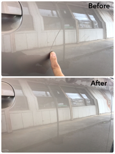 狭い駐車場でのこ擦り傷_d0351087_08563586.jpg