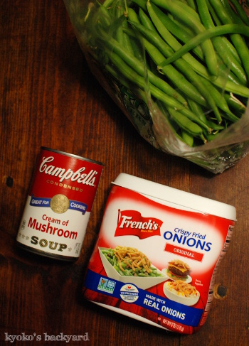 感謝祭定番のグリーンビーンズ・キャセロール。簡単胸肉ソテーとギリシャ風サラダ。/ 週1買い出し&ついで作り置き、はじめました。_b0253205_12271718.jpg