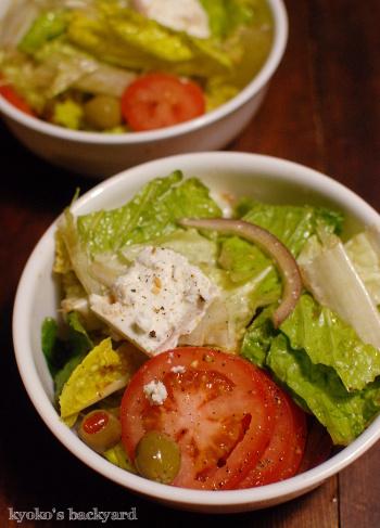 感謝祭定番のグリーンビーンズ・キャセロール。簡単胸肉ソテーとギリシャ風サラダ。/ 週1買い出し&ついで作り置き、はじめました。_b0253205_12280576.jpg