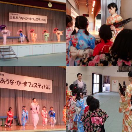 今日は地域の舞台で子ども達と踊りました。_c0309606_19051559.jpg