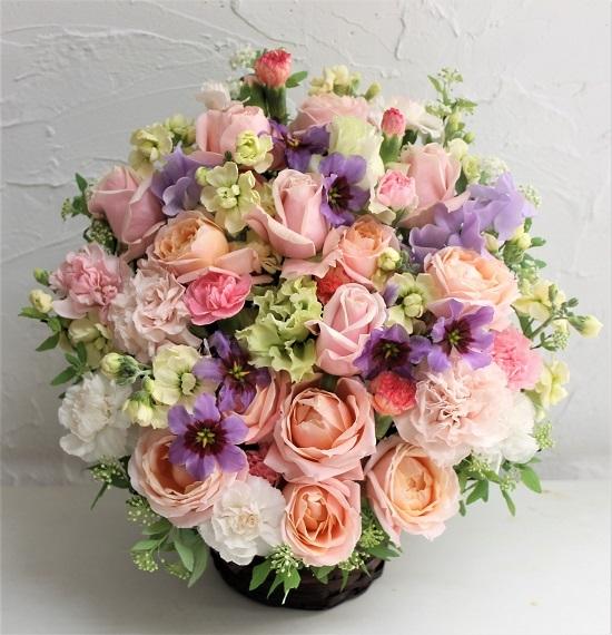 お祝い 生花のアレンジメント_d0227610_13231699.jpg