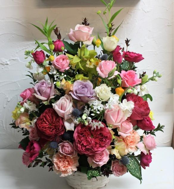 お祝い 生花のアレンジメント_d0227610_13232497.jpg