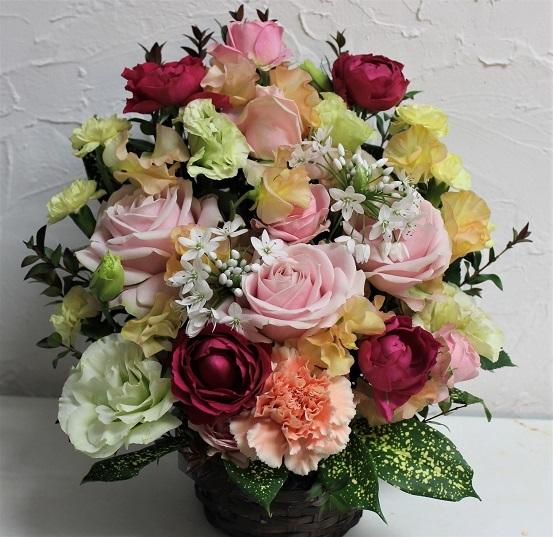 お祝い 生花のアレンジメント_d0227610_13243911.jpg