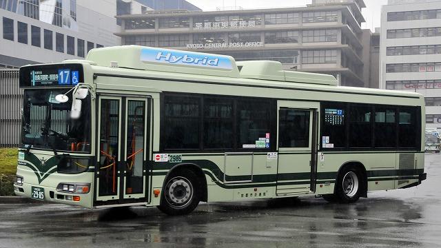 京都市バス~ブルーリボンシティHybrid  2985_a0164734_17595922.jpg