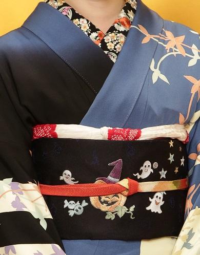 10周年・ユキリコフさん、加賀友禅にハロウィンの帯。_f0181251_1554282.jpg