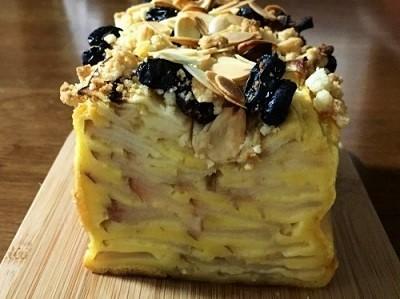 ハーゲンダッツ チェリーカスタードパイと100均パウンド型で林檎の焼き菓子 ガトーインビジブル♪_f0231189_15003198.jpg