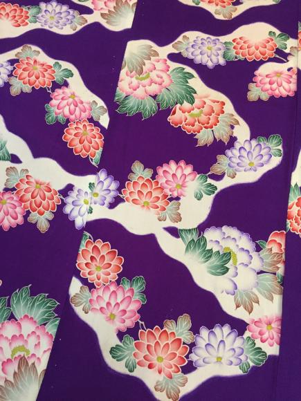1/30より!新宿伊勢丹催事・雪道の様♪紫菊牡丹着物×菊梅刺繍帯♪販売商品8_c0321302_22211393.jpg