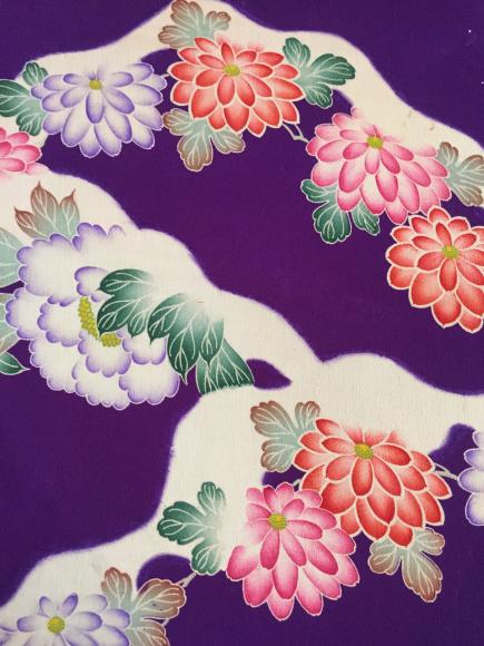 1/30より!新宿伊勢丹催事・雪道の様♪紫菊牡丹着物×菊梅刺繍帯♪販売商品8_c0321302_22284043.jpg