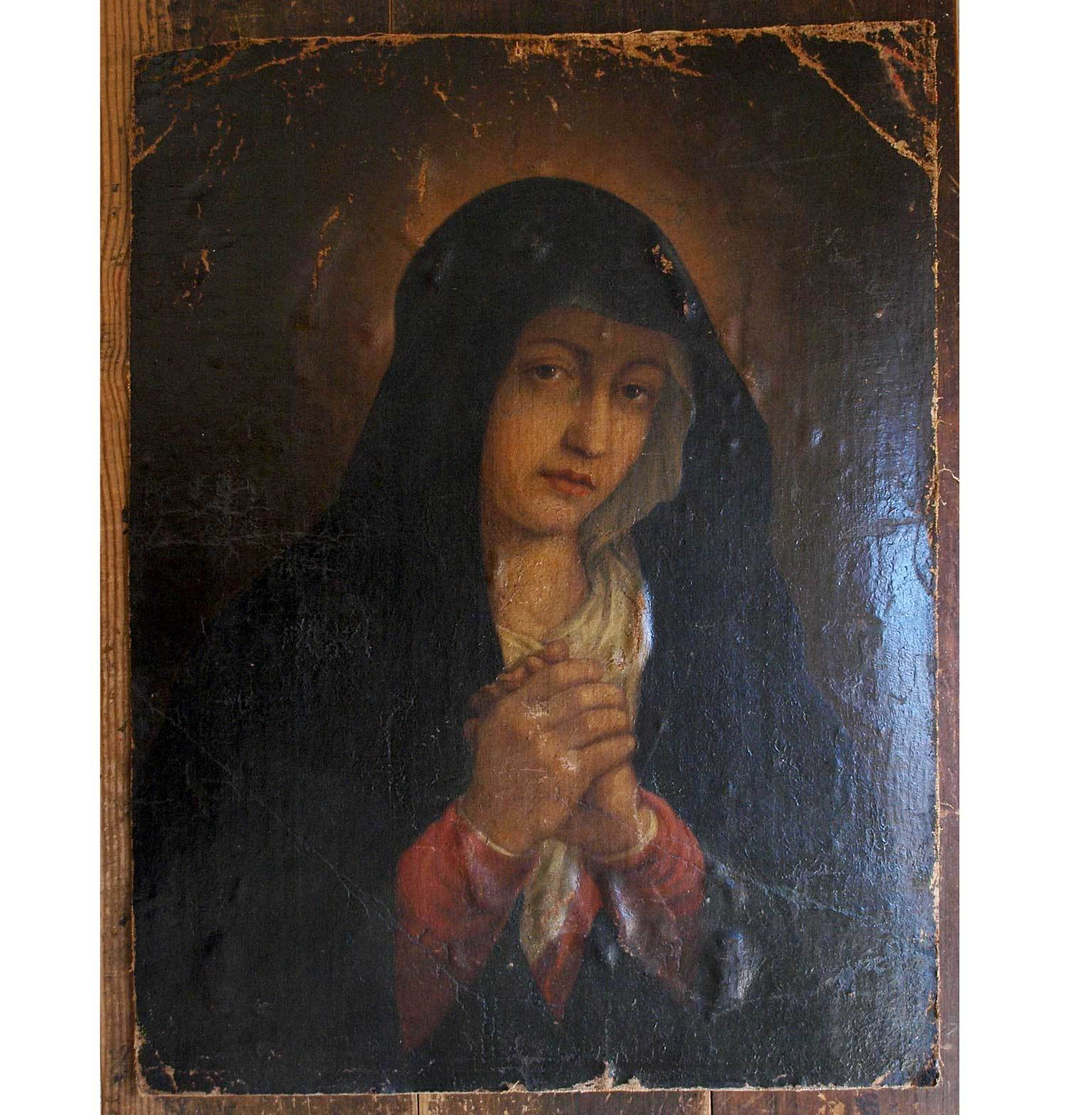 青いローブの悲しみの聖母マリア  /F987_e0324838_02183467.jpg