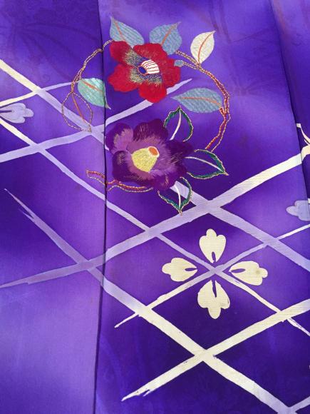 1/30より!新宿伊勢丹催事・紫暈し椿刺繍着物×臙脂白椿帯♪販売商品22_c0321302_17065335.jpg