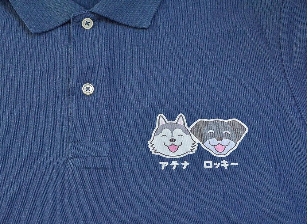 アテナちゃん・ロッキーくん ポロシャツ_d0102523_1251335.jpg